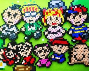 Lucus Boney Claus Flint Duster Kumatora Mother3 Mother 2 magnets/Earthbound/SuperSmash/Super nintendo/gameboy/perler mini hama beads/pins