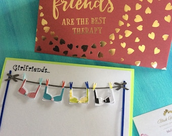 Girlfriends Are Supportive Greeting Card