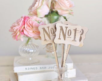 Rustic Wood Table Numbers Vintage Inspired Wedding by Steven and Rae Designs #BraggingBags (2001)