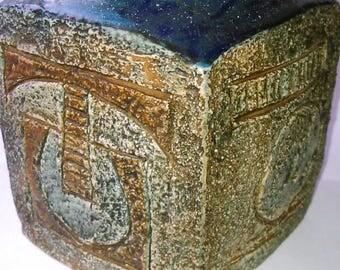 Troika, Cornish pottery, collectable marmalade pot 1970's By Simone Kilburn