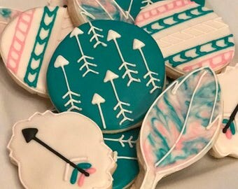 Feathers and Arrows Cookies