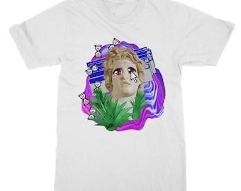 シ Vaporwave Aesthetic Original Digital Keys Unisex Double Sided Sublimation Printed T-Shirt シ zJNhE