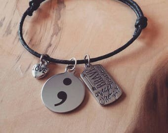 Semi Colon Bracelet