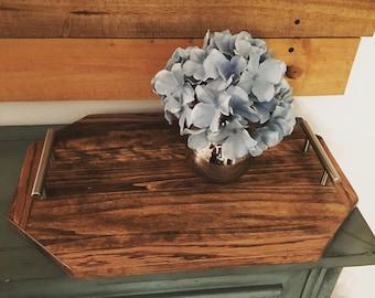 Wooden tray - Home Decor - Rustic Decor - Farmhouse Style - Rustic Style - Wood - Rustic - Farmhouse - Decorative tray - Coffeetable tray