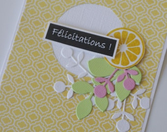 "Orange ""Congratulations"" card"