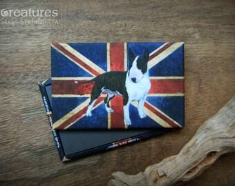 Union Jack Bullie Magnet - Bull Terrier - UK Flag