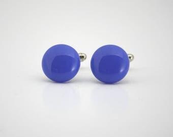 Egyptian Blue Glass Cufflinks