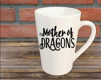Mother of Dragons Kahleesi Game of Thrones Horror Mug Coffee Cup Halloween Gift Home Decor Kitchen Bar Gift for Her Him