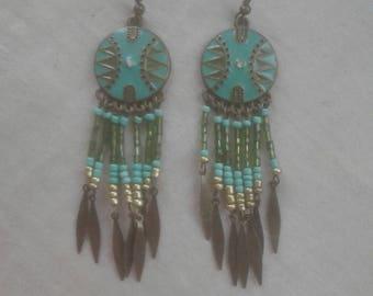 Mayan design earrings