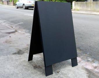 Plain Wooden Black Sandwich Board, Shop Sign, A Board, Chalk Board, Wedding Chalkboard