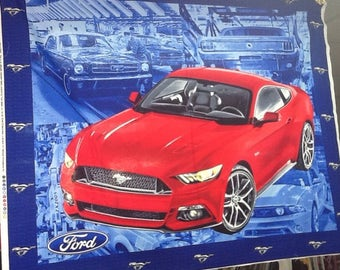 mustang panel ford car red car vintage cars Cotton
