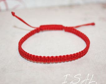 Red Kabbalah bracelet, Friendship macrame bracelet, String bracelet, Shamballa bracelet, Buddhist bracelet for men, women and baby