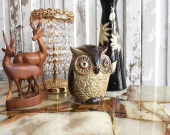 Royal porcelain Küps OWL money box / Royal porcelain piggy bank owl