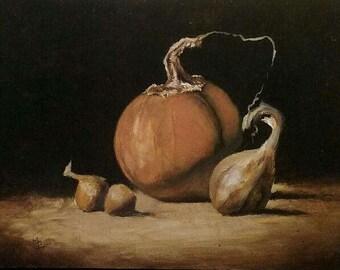 Pumpkin Fall Still Life