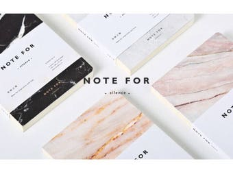 PRICE REDUCED silence marble blank notebook sketch book