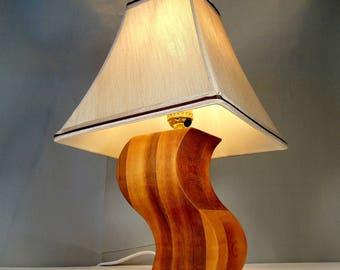 """FREE SHIPPING-Unique Cedar Desk Lamp 8"""""""