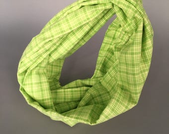 Green Flannel Infinity Scarf