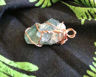 Smaller green flourite pendant