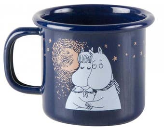 Moomin Enamel Mug WINTER ROMANCE 1,5DL
