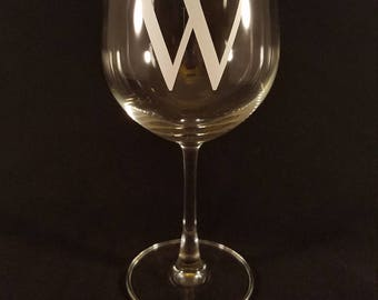Monogrammed Wine Glass - Set of 4