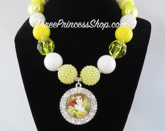 Belle - Beauty and the Beast - Bubblegum Necklace (Kids)