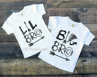 Lil Bro, Big Bro, Matching brother outfits, Little Brother, Big Brother Shirts, sibling shirts, matching shirts, brother and me