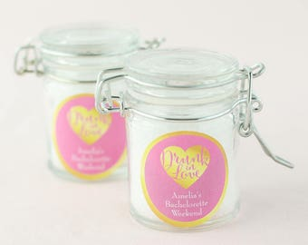 Personalized Glass Favor Jars (set of 12)