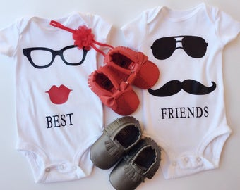 Best Friends Twins Baby Matching Outfits