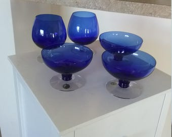 Swedish Blue Glass