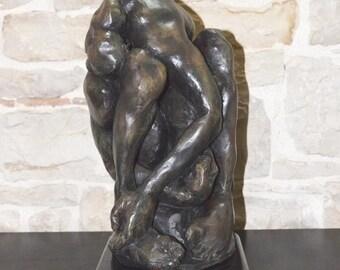 Sculpture. Male figure in clay.
