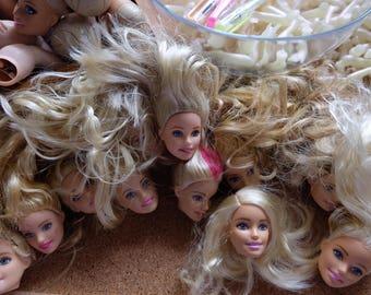Barbie head /monster hight doll/Vintage Mattel /colletion/diy remade