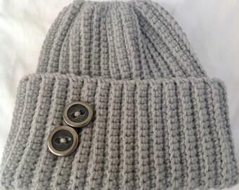 Gray Adult Ponytail cap