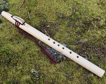 Native American Style Flute, Flame Maple and Glastonbury Bog Oak, G