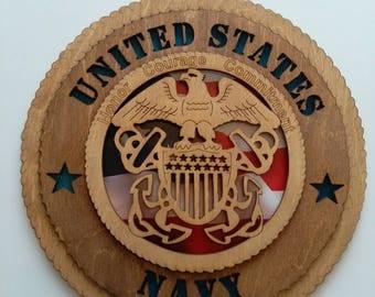 United States Navy wood sign