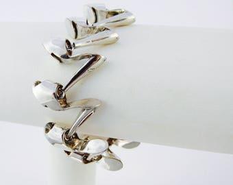 Articulated Shoe Bracelet in Sterling Silver