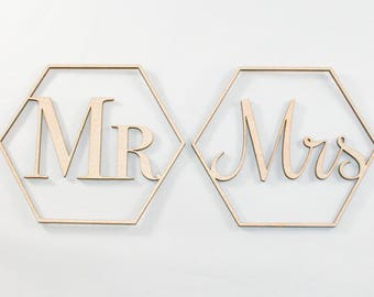 Mr & Mrs Chair Signs // Wedding Chair Signs