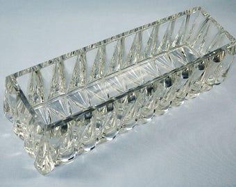 Baccarat Art Deco Crystal Rectangular Dish