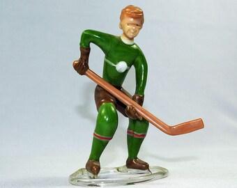 Art Glass Sculpture Hockey Player