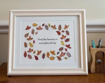 Autumnal print- unframed