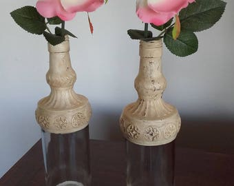 Vases with glass bottles. REF. 005/17