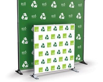 Step and Repeat, Hardware & Fabric pirnt - Free shipping - Event, Photo, Booth, Backdrop for Wedding, Birthday