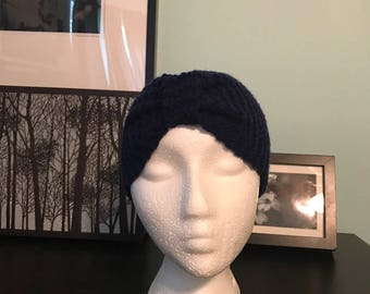 Navy Cinched Headband