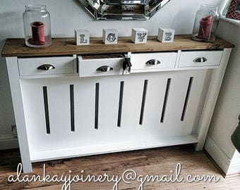 Made to measure bespoke Radiator Cover with storage Drawers , any size , quotes on alankayjoinery@gmail.com please