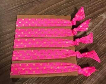 Pink Polka Dot Haie Ties