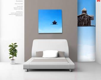 Home in the sky (acrylic, modern, modern art, art, painting)