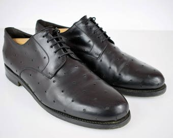 Robertino BUDAPESTER full leather mens shoes UK 11 EUR 46 Hand made black