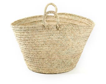 Natural Moroccan straw basket