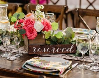 Reserved Sign | Wood Reserved Sign | Reserved Sign for Wedding
