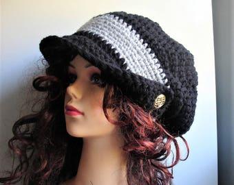 Elegant Large Crochet beret Winter Hat - Hand Crochet Hat - Winter Accessories - crochet beret - big women beret - Large Slouchy Beanie