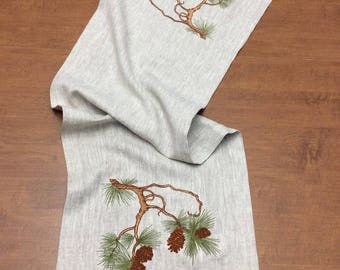 Arts and Crafts style Pine Branch